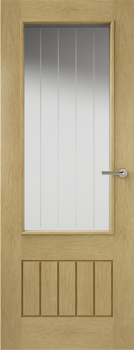 Premdor Internal Croft 3 4 Light Oak Glazed Fd30 Doors