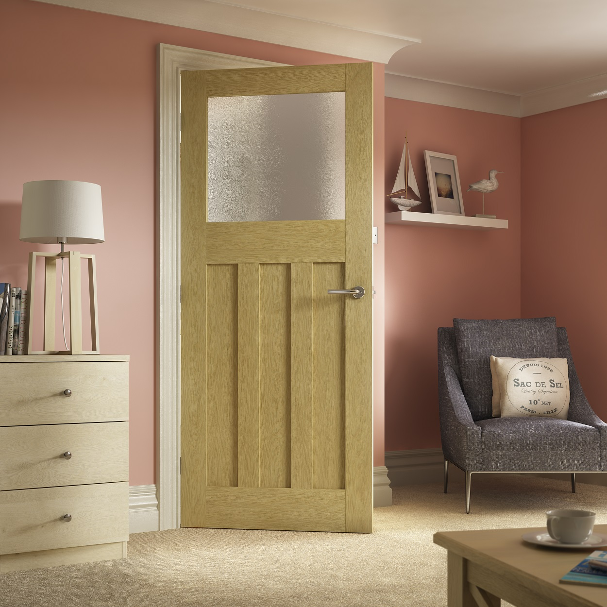 Beau The New Premdor Internal 1930u0027s Shaker Oak Door